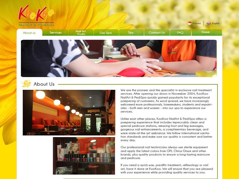 Company Profile of Kookoonails Nails Art & PediSpa<br/>Freelancer : Randy Indrayanto